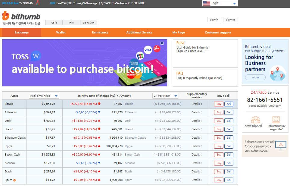 Обзор биржи криптовалют Bithumb